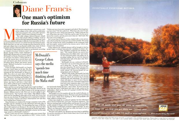 Article Preview: One man's optimism for Russia's future, January 1999 | Maclean's
