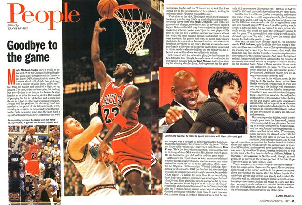 Article Preview: Goodbye to the game, January 1999 | Maclean's