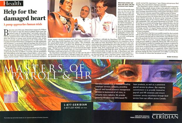 Article Preview: Help for the damaged heart, January 1999 | Maclean's