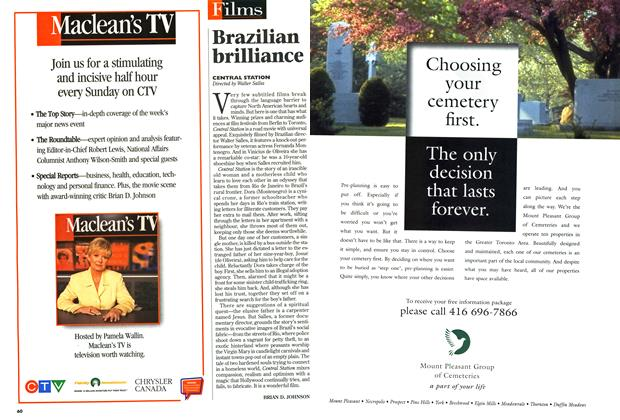 Article Preview: Brazilian brilliance, January 1999 | Maclean's