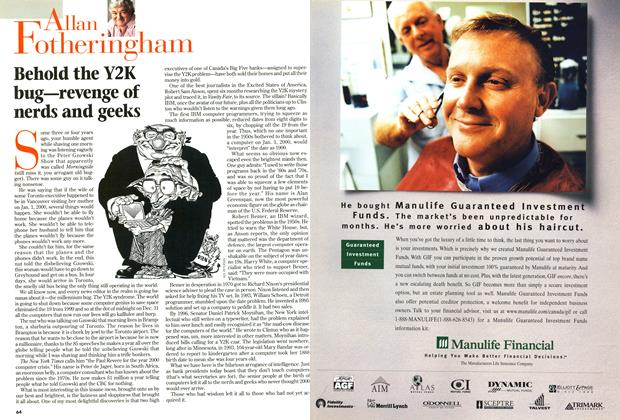 Article Preview: Behold the Y2K bug—revenge of nerds and geeks, January 1999 | Maclean's