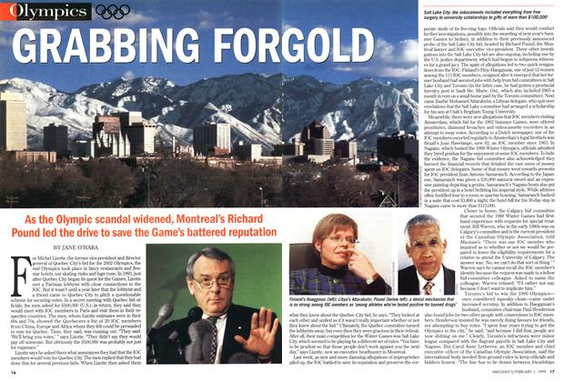 Article Preview: GRABBING FOR GOLD, February 1999 | Maclean's