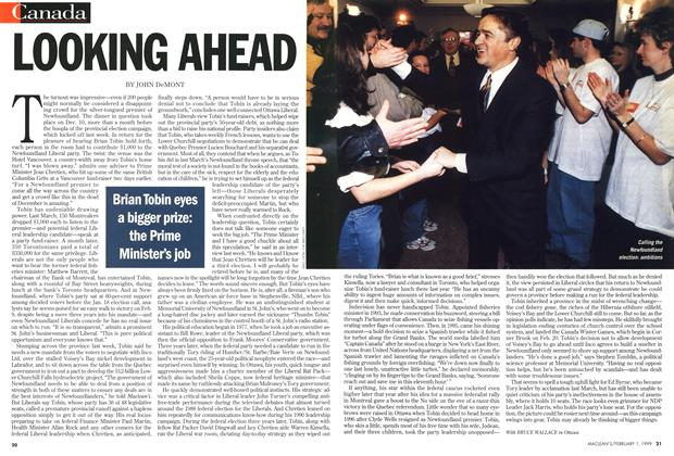 Article Preview: LOOKING AHEAD, February 1999 | Maclean's