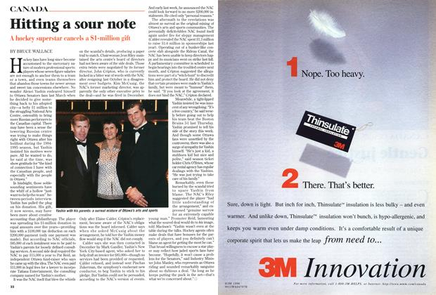 Article Preview: Hitting a sour note, February 1999 | Maclean's