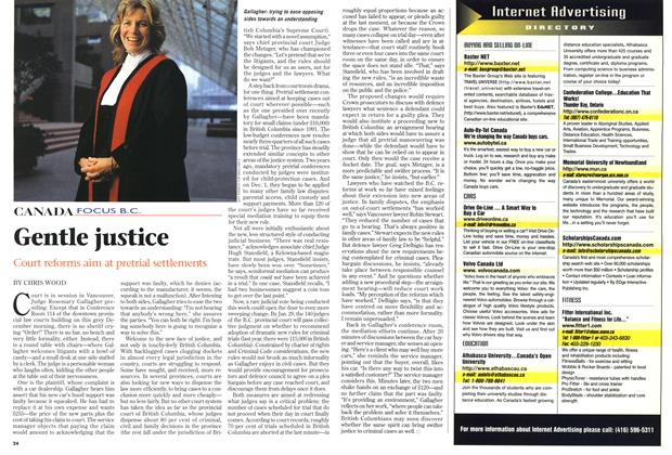 Article Preview: Gentle justice, February 1999 | Maclean's