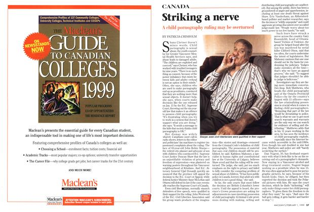 Article Preview: Striking a nerve, February 1999 | Maclean's