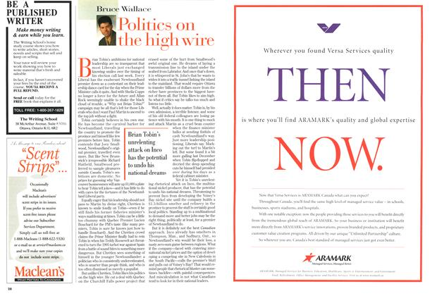 Article Preview: Politics on the high wire, February 1999 | Maclean's