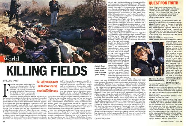 Article Preview: KILLING FIELDS, February 1999 | Maclean's