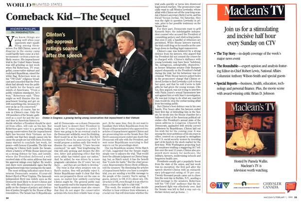Article Preview: Comeback Kid—The Sequel, February 1999 | Maclean's
