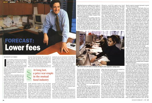 Article Preview: FORECAST: Lower fees, February 1999 | Maclean's