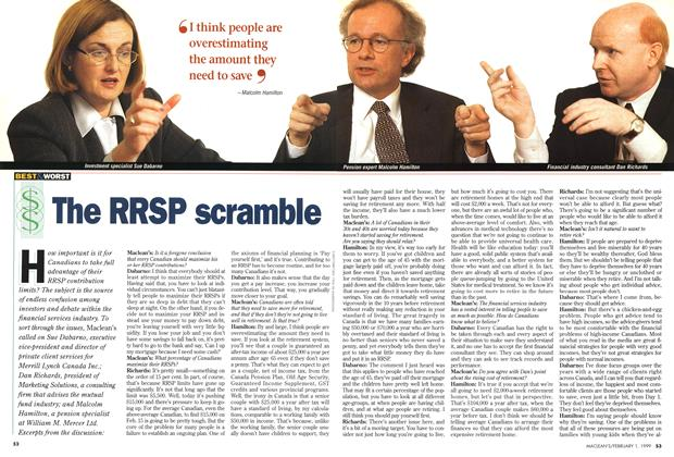 Article Preview: The RRSP scramble, February 1999 | Maclean's