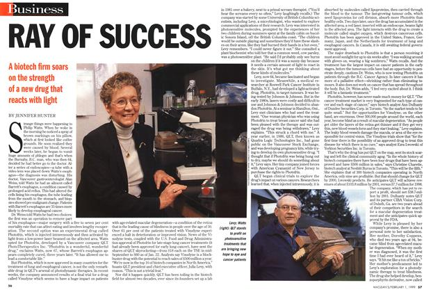 Article Preview: RAY OF SUCCESS, February 1999 | Maclean's