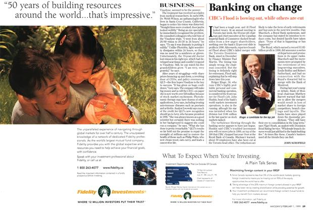 Article Preview: Banking on change, February 1999 | Maclean's
