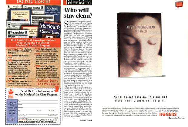 Article Preview: Who will stay clean?, February 1999 | Maclean's