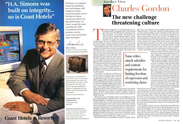 Article Preview: The new challenge threatening culture, February 1999 | Maclean's
