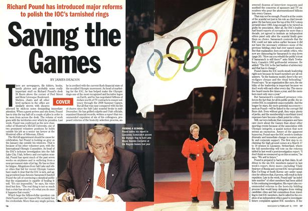 Article Preview: Saving the Games, February 1999 | Maclean's