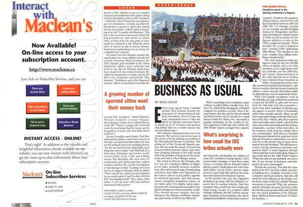 Article Preview: BUSINESS AS USUAL, February 1999 | Maclean's