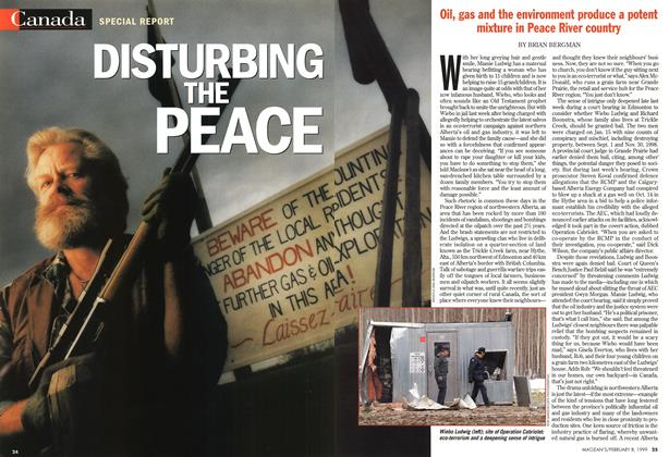 Article Preview: DISTURBING THE PEACE, February 1999 | Maclean's