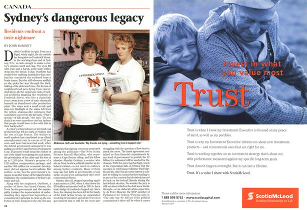 Article Preview: Sydney's dangerous legacy, February 1999 | Maclean's