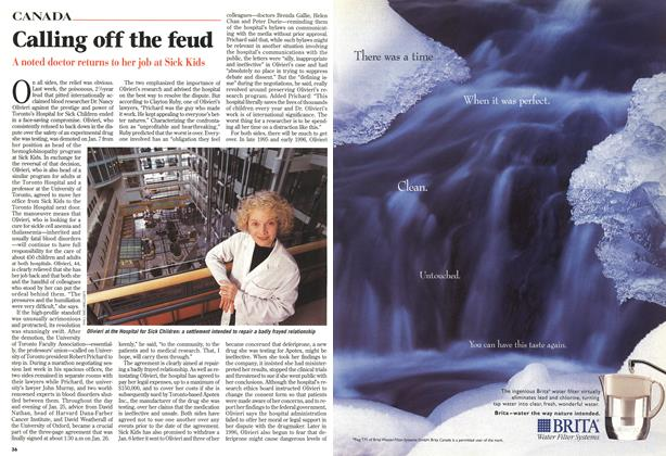 Article Preview: Calling off the feud, February 1999 | Maclean's