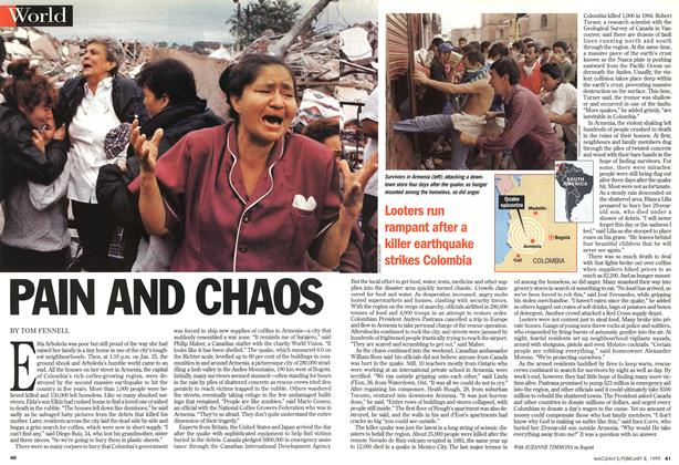 Article Preview: PAIN AND CHAOS, February 1999 | Maclean's