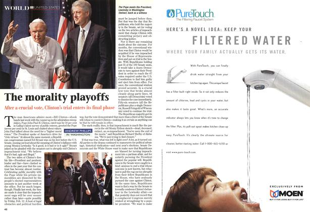 Article Preview: The morality playoffs, February 1999 | Maclean's