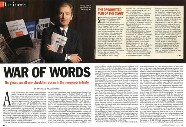 Article Preview: WAR OF WORDS, February 1999 | Maclean's