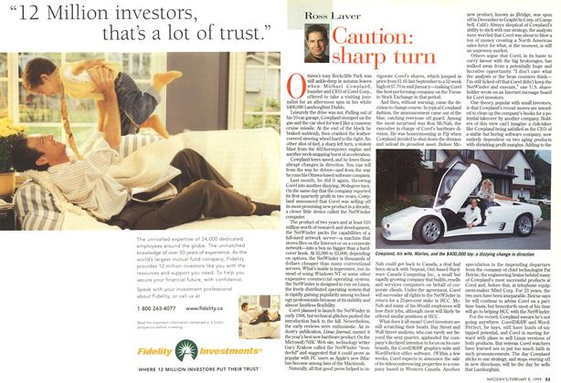 Article Preview: Caution: sharp turn, February 1999 | Maclean's