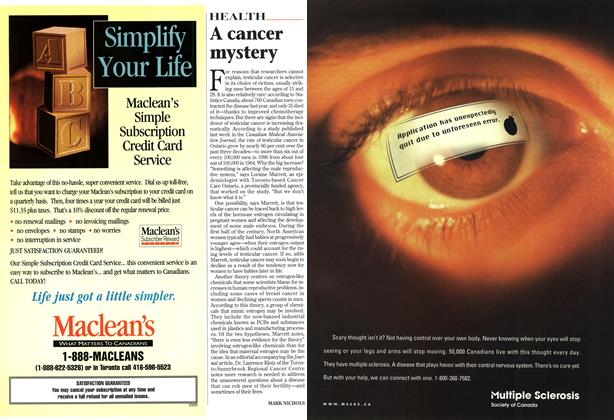 Article Preview: A cancer mystery, February 1999 | Maclean's