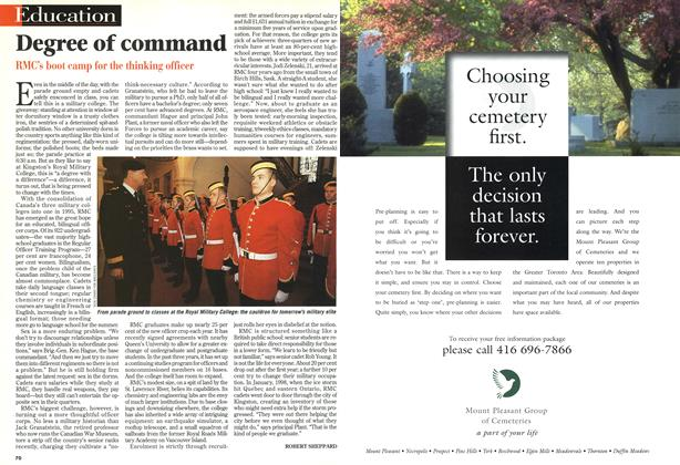 Article Preview: Degree of command, February 1999 | Maclean's