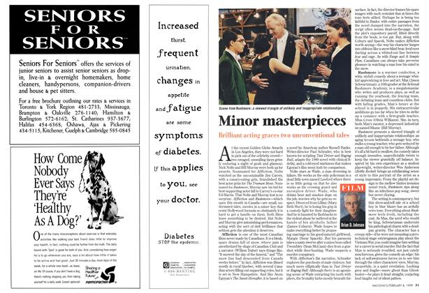 Article Preview: Minor masterpieces, February 1999 | Maclean's