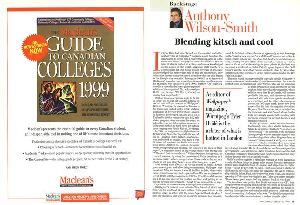 Article Preview: Blending kitsch and cool, February 1999 | Maclean's
