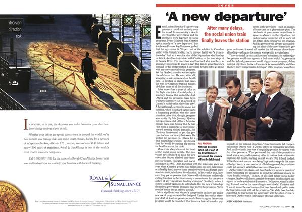 Article Preview: 'A new departure', February 1999 | Maclean's