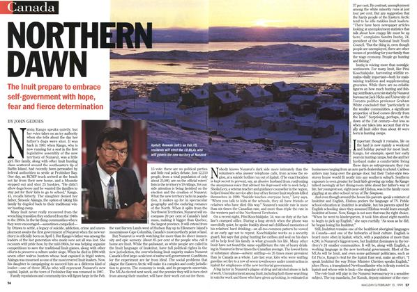 Article Preview: NORTHERN DAWN, February 1999 | Maclean's