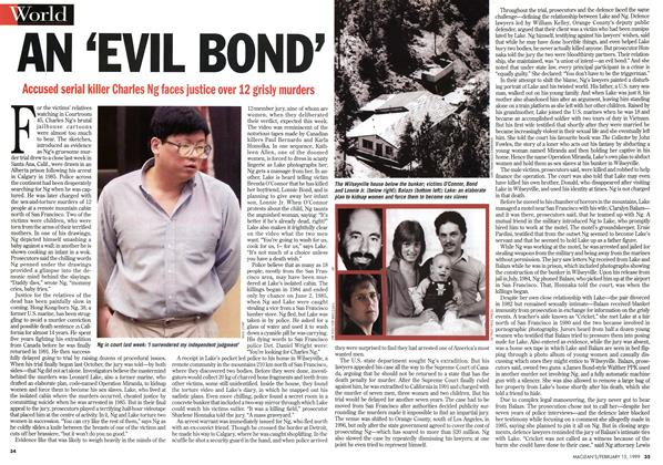 Article Preview: AN 'EVIL BOND', February 1999 | Maclean's