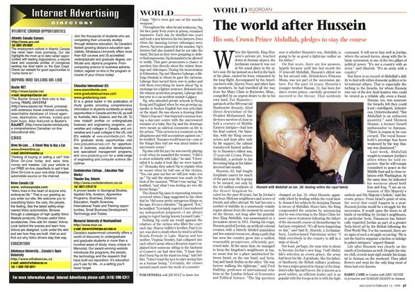 Article Preview: The world after Hussein, February 1999 | Maclean's