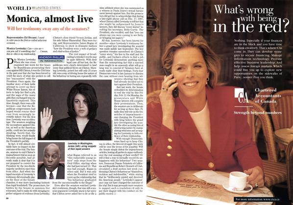 Article Preview: Monica, almost live, February 1999 | Maclean's