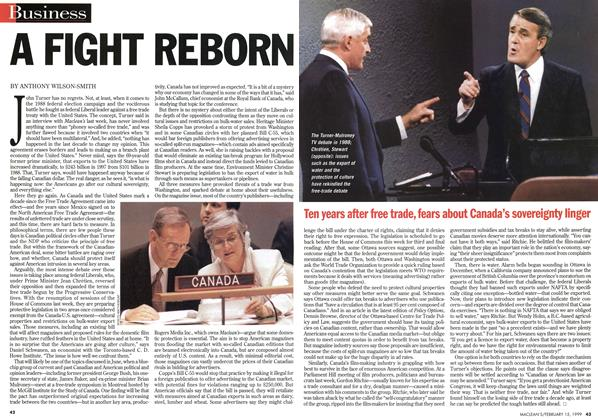 Article Preview: A FIGHT REBORN, February 1999 | Maclean's