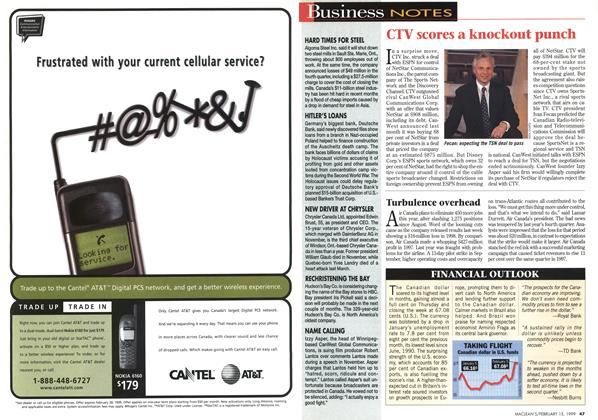 Article Preview: Business NOTES, February 1999 | Maclean's