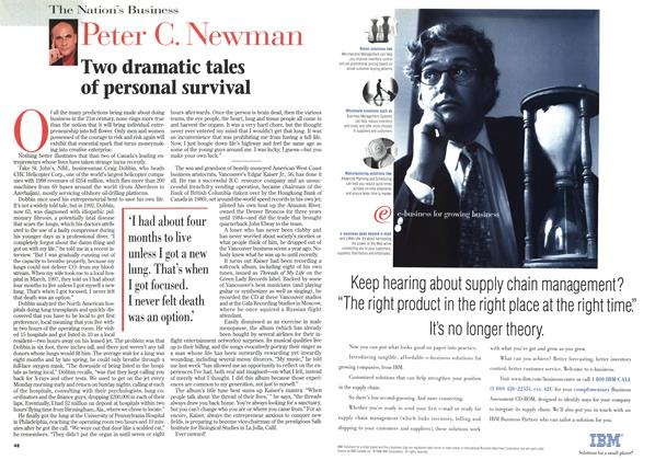 Article Preview: Two dramatic tales of personal survival, February 1999 | Maclean's