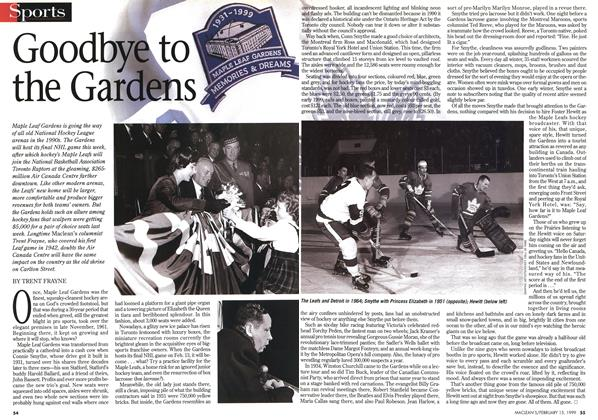 Article Preview: Goodbye to the Gardens, February 1999 | Maclean's