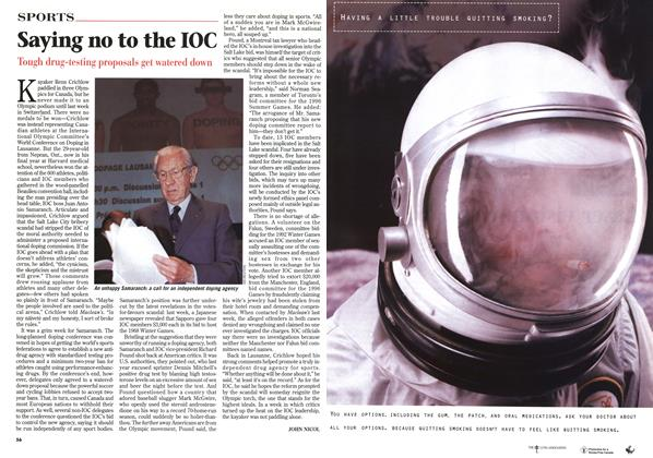 Article Preview: Saying no to the IOC, February 1999 | Maclean's