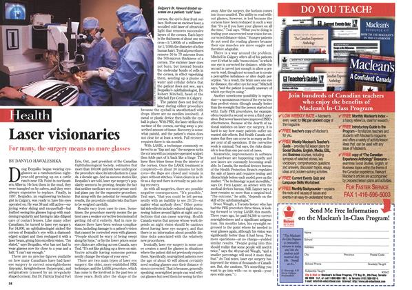 Article Preview: Laser visionaries, February 1999 | Maclean's