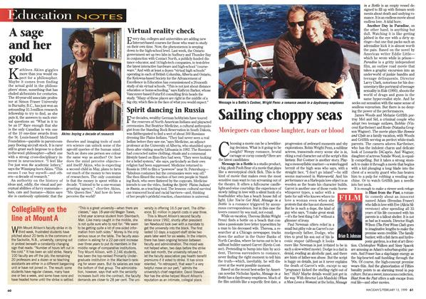 Article Preview: Sailing choppy seas, February 1999 | Maclean's