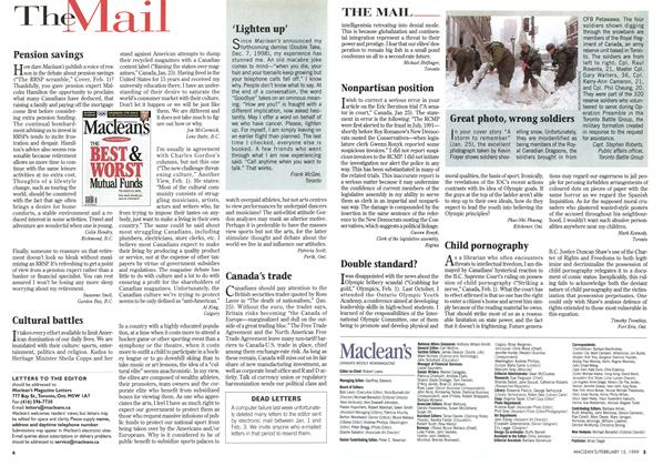 Article Preview: The Mail, February 1999 | Maclean's