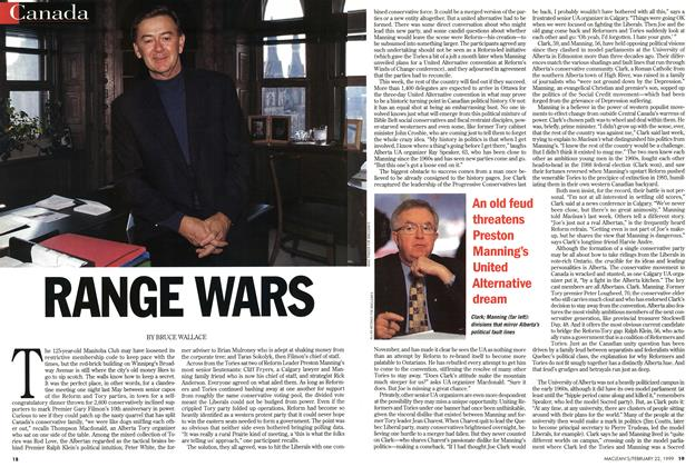 Article Preview: RANGE WARS, February 1999 | Maclean's