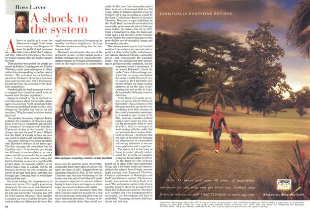 Article Preview: A shock to the system, February 1999 | Maclean's