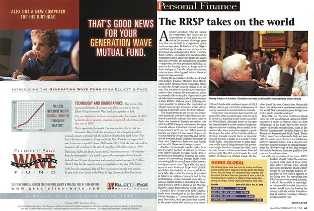 Article Preview: The RRSP takes on the world, February 1999 | Maclean's