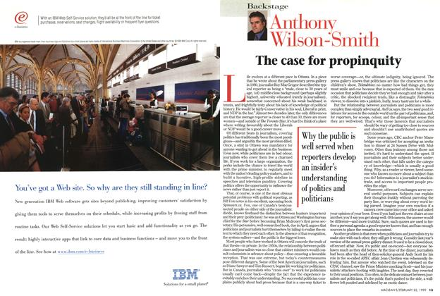 Article Preview: The case for propinquity, February 1999   Maclean's