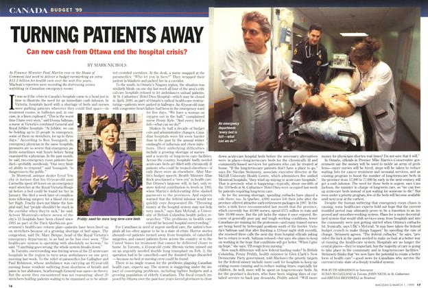 Article Preview: TURNING PATIENTS AWAY, March 1999 | Maclean's